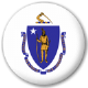 Massachusetts State Flag 25mm Pin Button Badge
